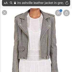Iro leather jacket in grey size 38